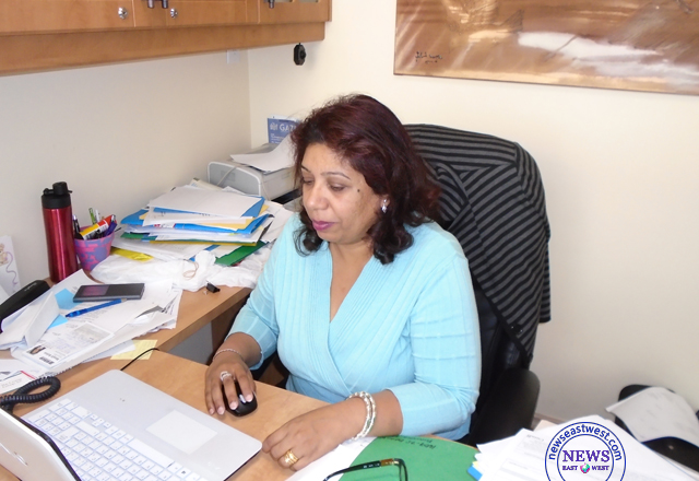 Immigration consultant Sheetal Jhuti in her office