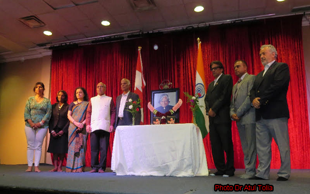 Tributes to Dr Abdul Kalam by the Indo-Canadian community in Toronto.