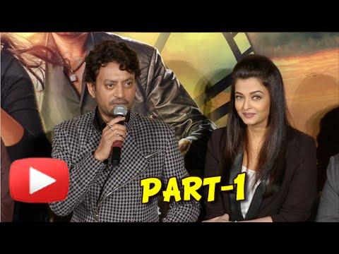 Aishwarya, Irrfan at launch of Jazbaa trailer