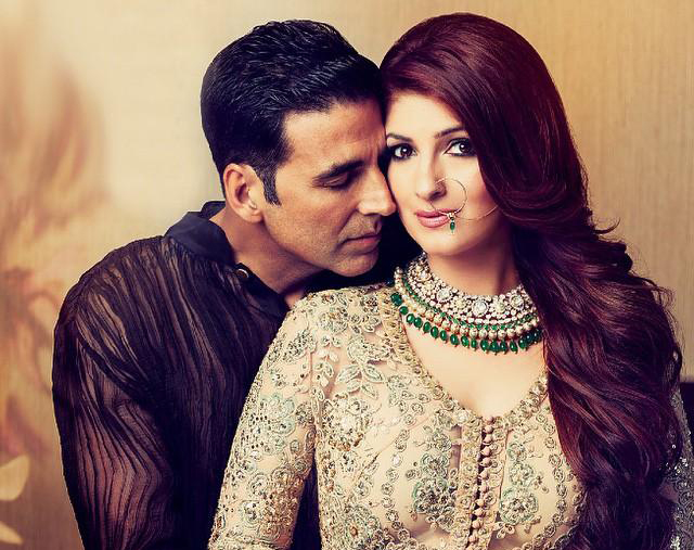 akshay with wife twinkle
