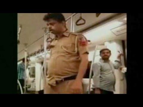 Drunk policeman on Metro train shames Delhi Police