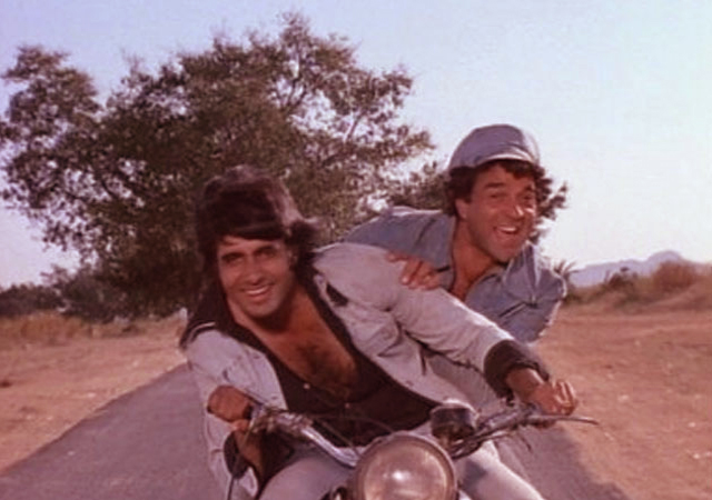 sholay-scene with amitabh and dharmendra