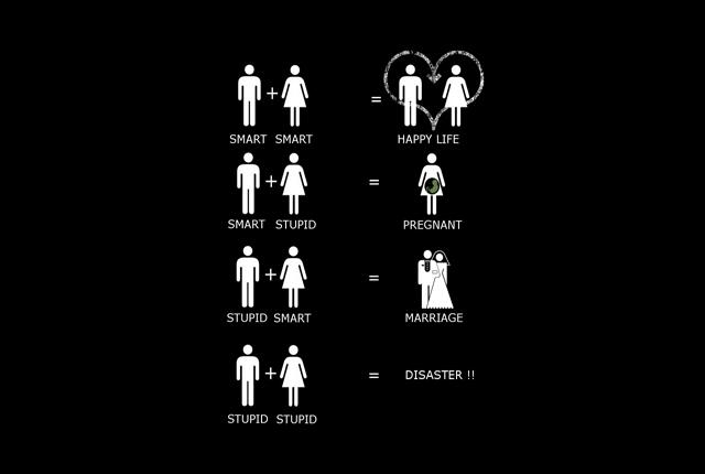 Smart + stupid = Pregnant