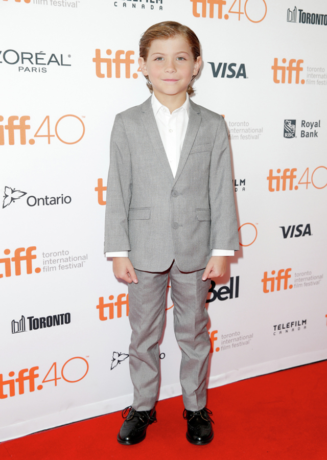 Child actor Jacob Tremblay, seen at the premiere of `Room' at the 2015 Toronto International Film Festival, could become the youngest Oscar winner. TIFF photo by Joe Scarnici/Getty Images.