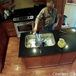 Jerry Bance repairing sink at a home in 2012 when he urinated in a mug and their poured it down the sink