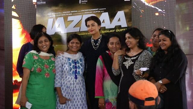 Aishwarya Rai promotes her movie Jazbaa among law students