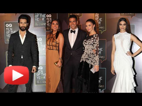 Deepika, Shahid and Akshay Kumar at GQ Awards 2015