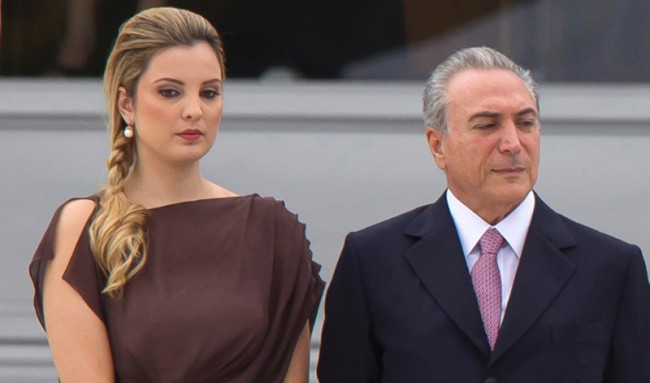 Marcela Tedeschi, 33, the first lady of Brazil with her 70-year-old President husband.