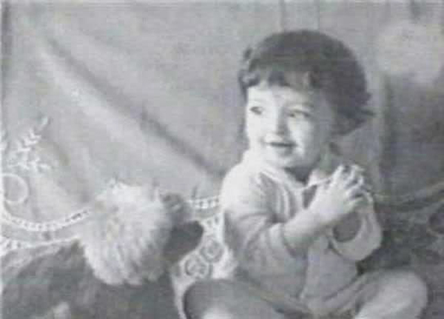 Aishwarya Rai as a baby