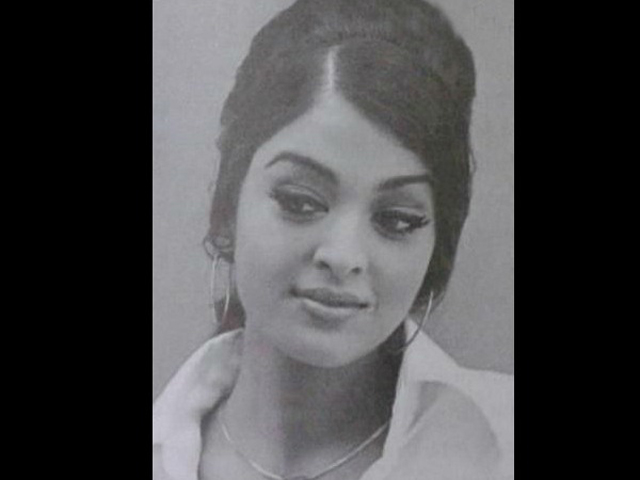 Aishwarya Rai as a budding model