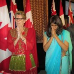 Dipika Damerla (right) with her Premier Kathleen Wynne at the Diwali celebrations at the state assembly in Toronto