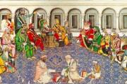 Maharaja Ranjit Singh holding his durbar