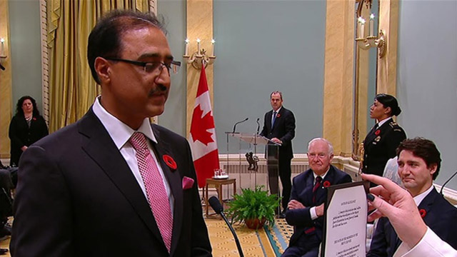 Amarjeet Sohi: Canada's new minister for infrastructure