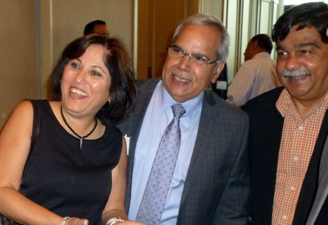 Author Kam Rathee (middle) is Vice-Chairman of the Canada-India Business Council and Special Adviser-India for Blake, Cassels and Graydon, LLP, Toronto.