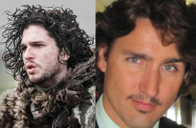 Justin Trudeau lookalike (Jon Snow)