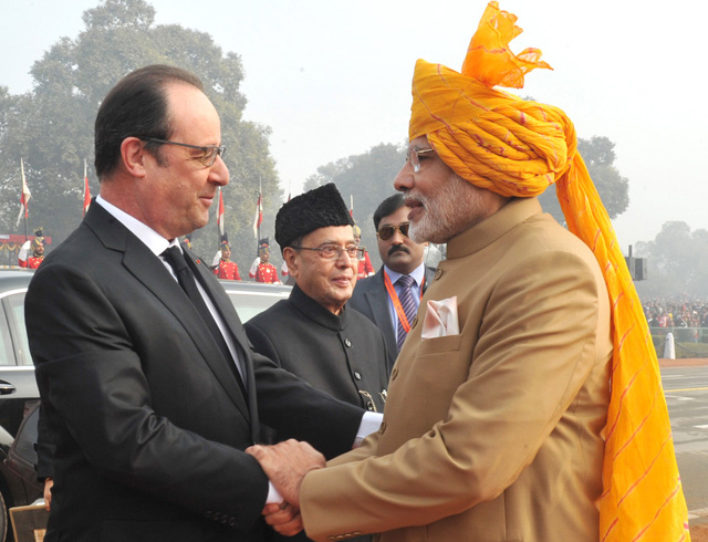 Pictures of India celebrating 67th Republic Day with French President as chief guest