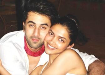 deepika without make-up with Ranbir Kapoor