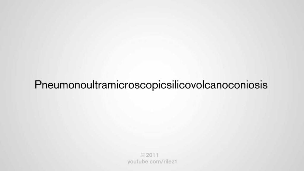 Pneumonoultramicroscopicsilicovolcanoconiosis: The longest word in English language