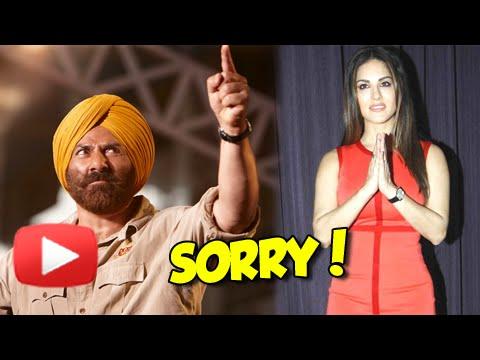 Sunny Leone apologizes to Sunny Deol!!!!!!!!!!!!!!!!!!!