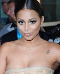 Actress Lauren London and her Om tattoo.
