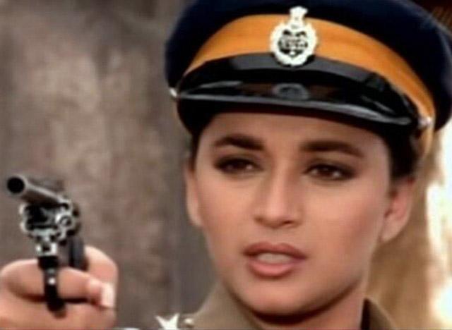 Madhuri Dixit as a cop in Khalnayak