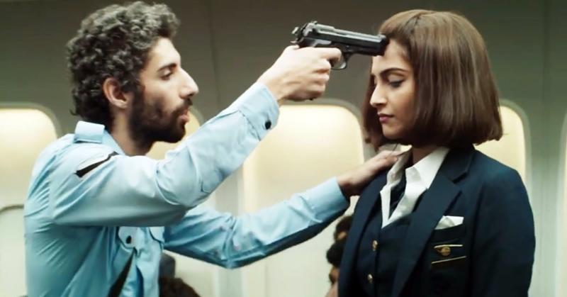 Sonam Kapoor in the role of Neerja Bhanot in the film Neerja.