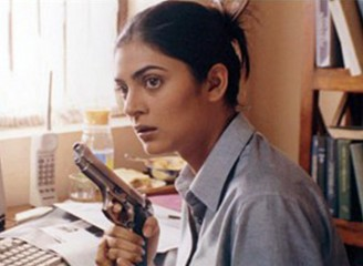 Sushmita Sen as a cop in 2003 action film Samay
