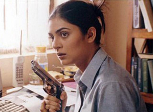 Sushmita Sen as a cop in 2003 action film Samay