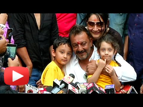See what Sanjay Dutt said after his release