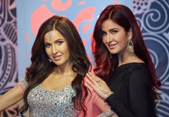 Katrina Kaif poses with her wax statue at Madame Tassauds