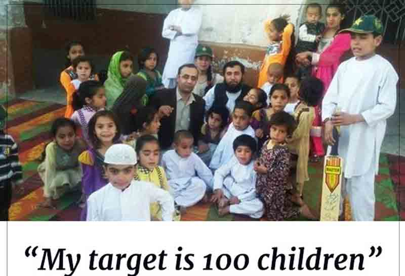 Pakistani father of 35 says his target is to produce 100 children