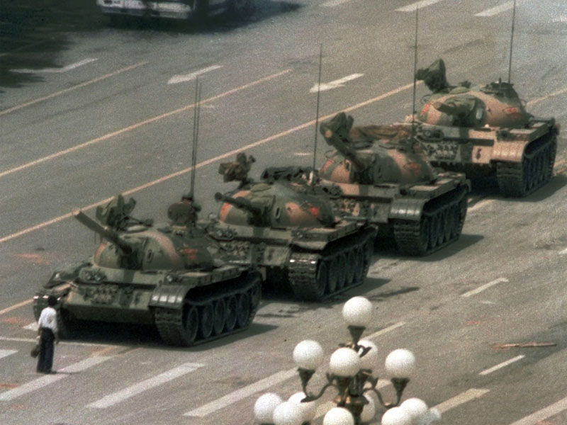 One man's defiance in Tiananmen Square became the symbol of pro-democracy protests in China in 1989.