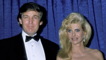 Trump with first wife Ivana