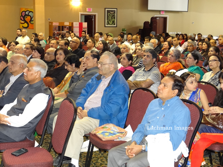The audience listening to Dr Subhash Chandra