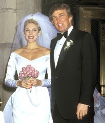 Trump with second wife