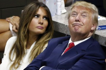 Trump with wife Melania