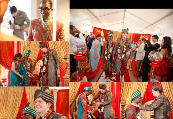 The marriage ceremony of  Rishi Agarwal with his partner Daniel Langdon. Channa Photography