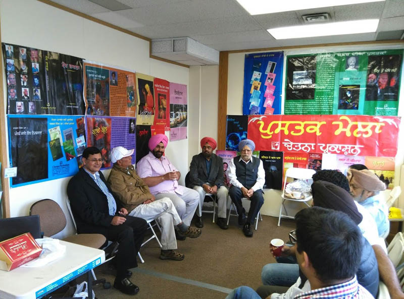 Punjabi writers at the Punjabi book mela in Surrey
