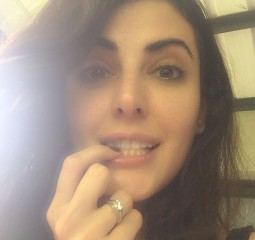 Mandana Karimi tweeted this picture of her with engagement ring