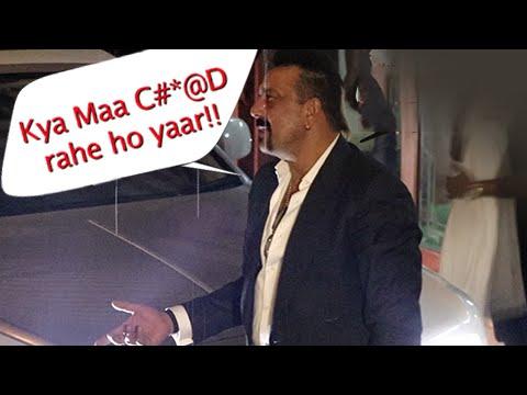 Sanjay Dutt gets abusive