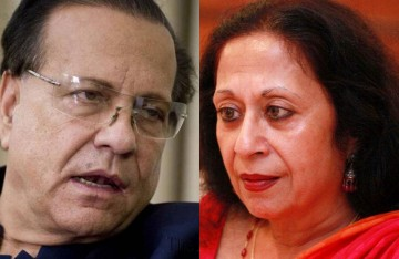 Salman Taseer (left) and Tavleen Singh (right)