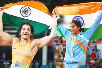 India's two medalists - Sakshi Malik (left) and PV Sindhu.