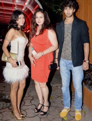 Poonam Dhillon with her son Anmol and daughter Paloma