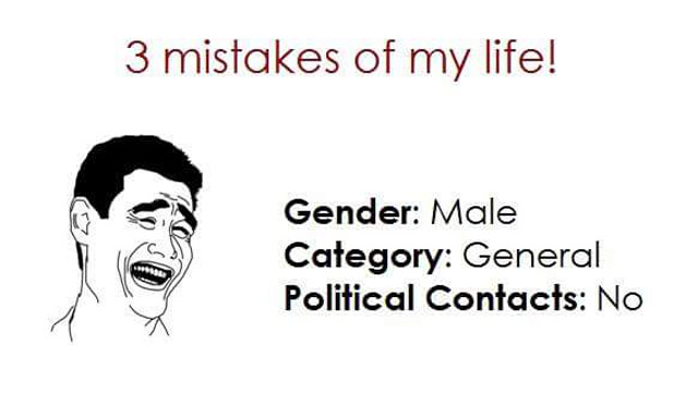 Mistakes of life