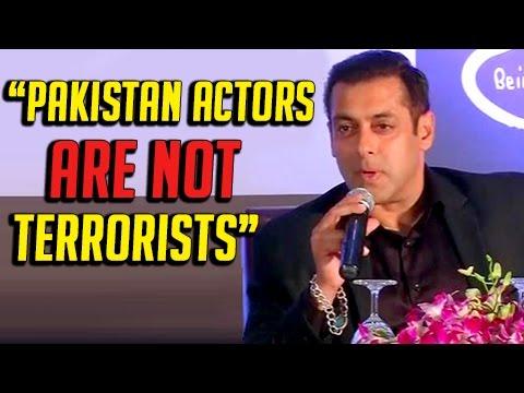 Salman Khan against Bollywood ban on Pakistani actors
