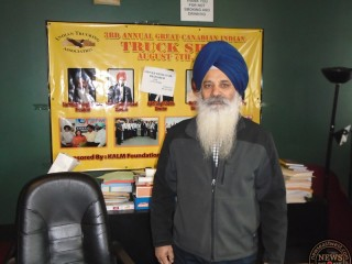 Nachhattar Singh Chohan in his office in Mississauga.