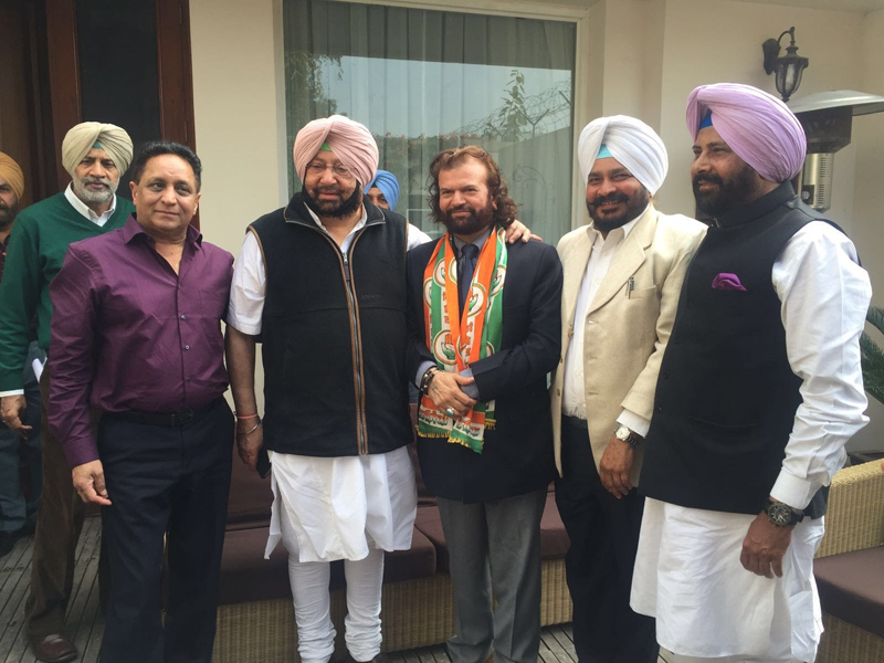 When Hans Raj Hans joined the Congress.