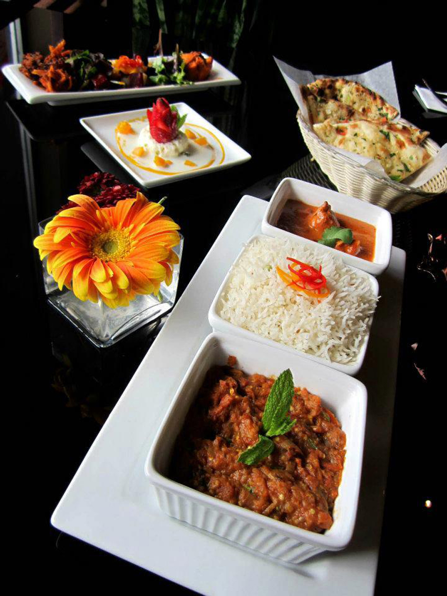 Chef Sid's mouth-watering dishes.