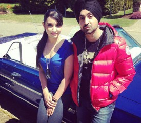 Diljit Dosanjh (right)