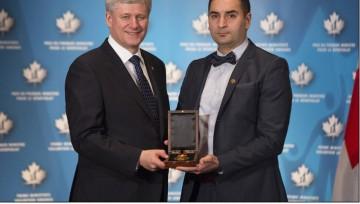 Former Canadian Prime Minister honouring Tejani